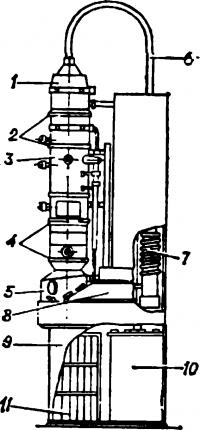 Схема электронного микроскопа просвечивающего типа