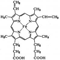 Рис. 1. Структурная формула гема.