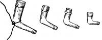 Рис. 8. Стеклянные дренажные трубки Пауля различных размеров.